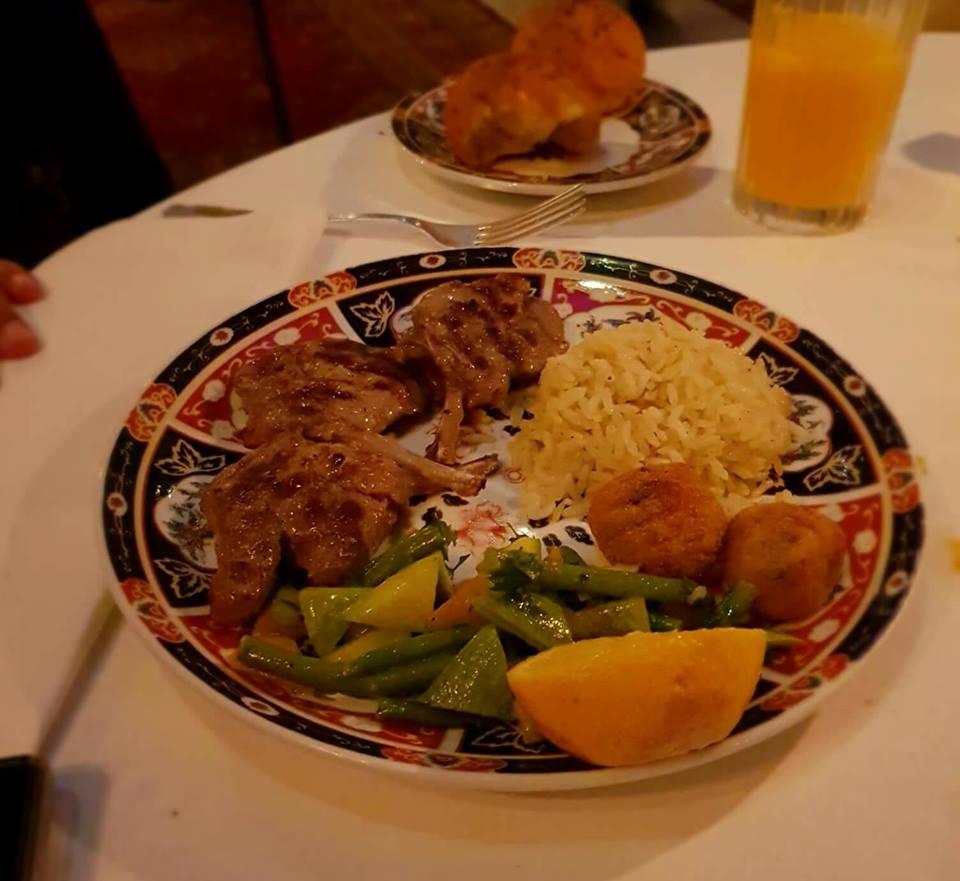 Dar el Jeld restaurant côtelettes plat