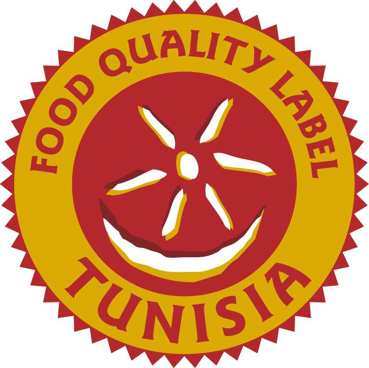 Logo food quality label Tunisia